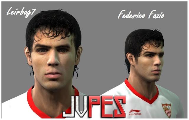 Face de Federico Fazio Zagueiro Argentino de 24 anos, Atualmente joga no Sevilla, desde 2007 para PES 2011 Download, Baixar Face de Federico Fazio (Sevilla) para PES 2011