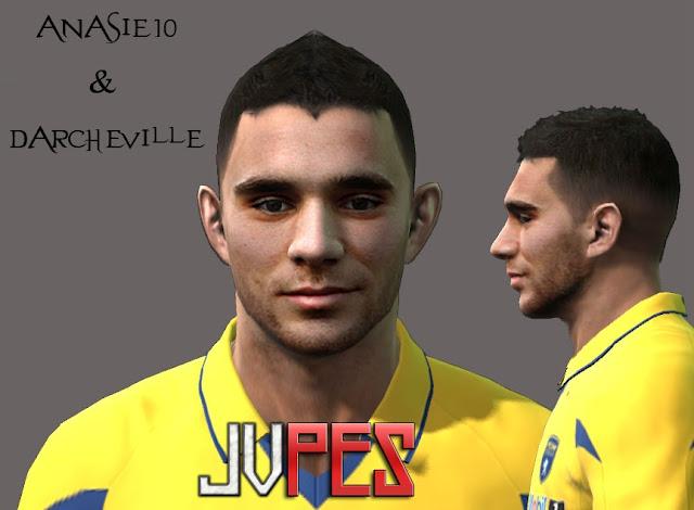 Face de Marvin Martin Meio-campo Francês de 23 anos, Atualmente joga no Sochaux com a camisa 14 para PES 2011 Download, Baixar Face de Marvin Martin (Sochaux) para PES 2011