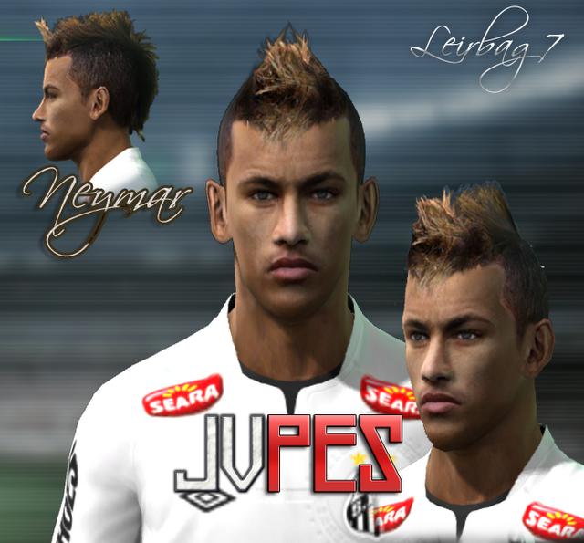 Face de Neymar Júnior atacante brasileiro de 19 anos, atualmente defende o Santos com a camisa 11 para PES 2011 Download, Baixar Face de Neymar Júnior - Santos para PES 2011