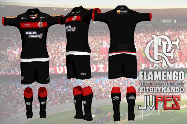 Uniforme do Flamengo Third 2011 para PES 2011 Download, Baixar Kit do Flamengo Third 2011 para PES 2011
